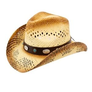 Unisex Cowboy Hat with Band and Studs